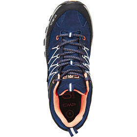 CMP Campagnolo Rigel Low WP Trekking Shoes Damen black blue-giada-peach